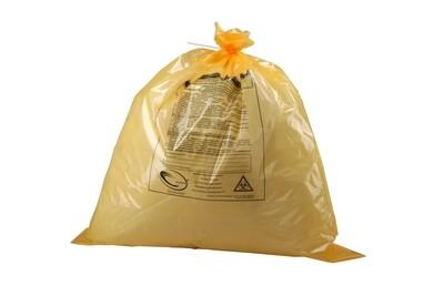 Пакеты для утилизации медицинских отходов 500 x 600 мм, 35л, 12 мкм, (класс Б - желтые)