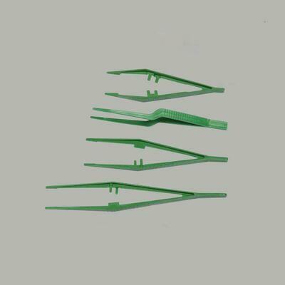 Пинцет одноразовый стерильный изогнутый, дл.15 см