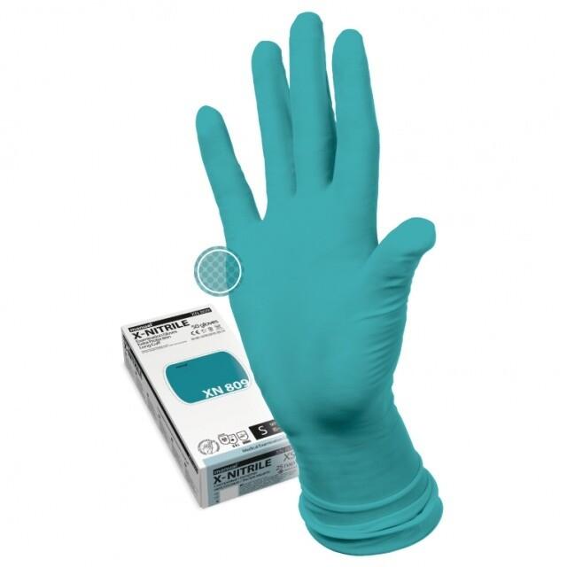 Перчатки нитриловые прочные MANUAL XN809 (25 пар)