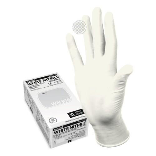 Перчатки мед. смотровые (диагностические) (нитрил) MANUAL WHITE NITRILE (200шт)