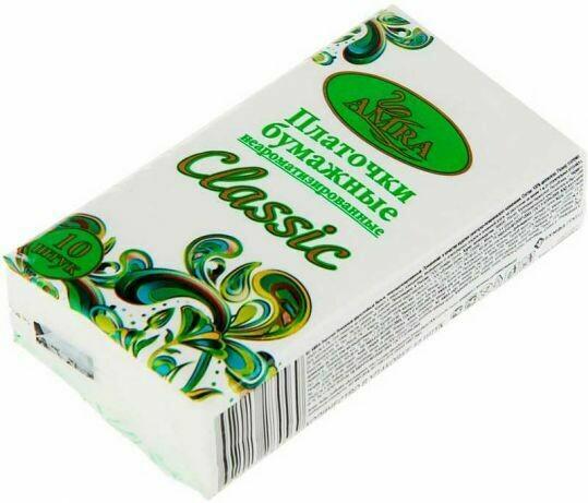 Платочки бумажные AMRA 10 шт/упак