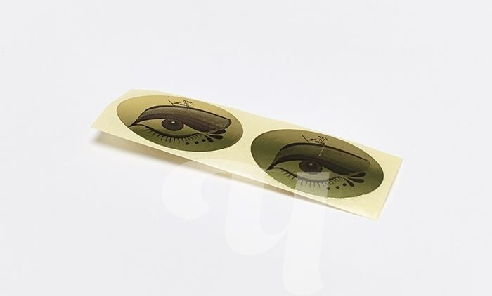 Наклейка на глаза для солярия (100 пар)