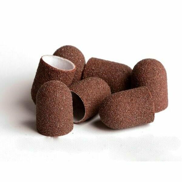 Песочный колпачок коричневый (тканевая основа) 120 грит (10шт)