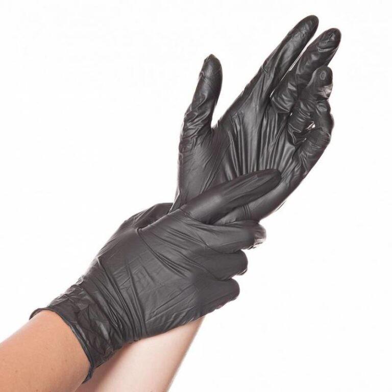 Виниловые перчатки черные SanViv (100шт)