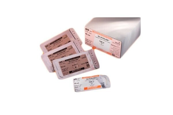 Шовный материал Гликолон фиолетовый DS 18, 5/0 USP, 45 см