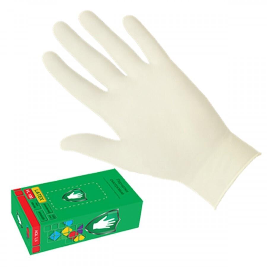 Латексные смотровые перчатки ОПУДРЕННЫЕ SC  (100шт)