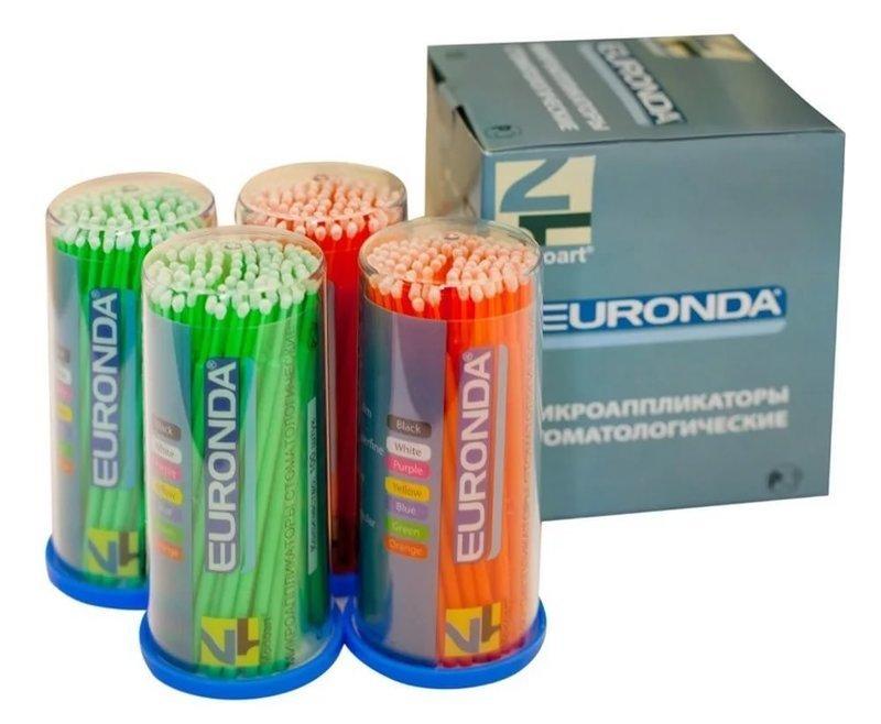 Микроаппликаторы (браши)  EURONDA 100шт