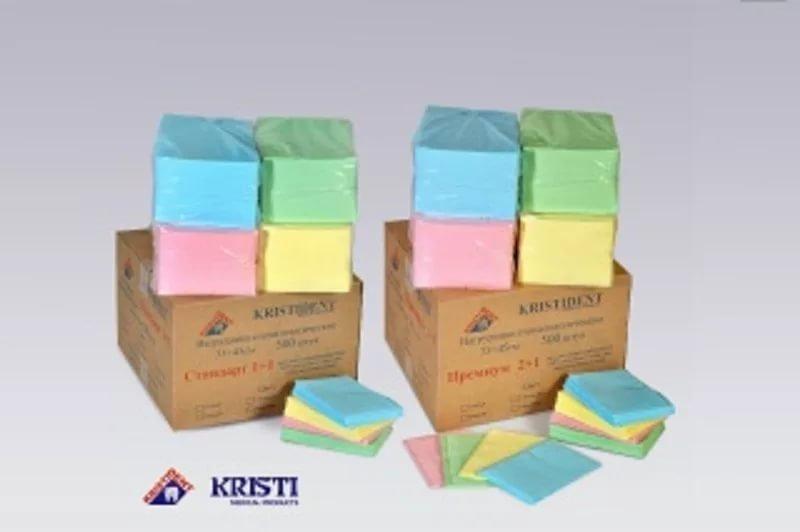 Салфетки нагрудные для пациентов КРИСТИ ПРЕМИУМ 2+1 слой 500шт