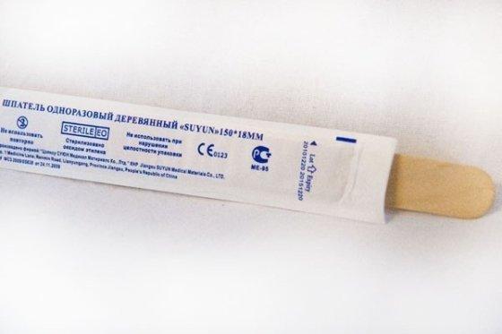 Шпатель медицинский одноразовый СТЕРИЛЬНЫЙ  (100 шт)