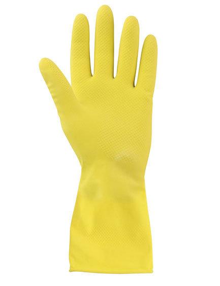 Хозяйственные перчатки желтые