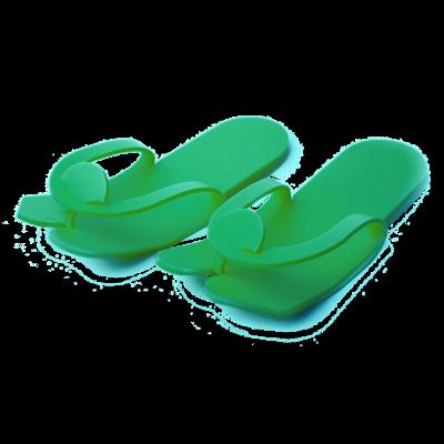 Тапочки - вьетнамки, ЗЕЛЕНЫЕ  (пенополиэтилен), подошва 5 мм (25 пар)