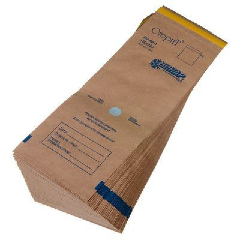 "Пакет из крафт-бумаги самоклеющийся ""СтериТ®""  100 х 250 мм"