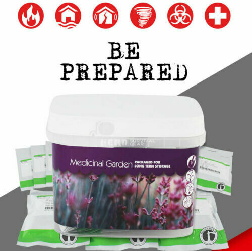 Medicinal Garden Emergency Survival Seed Pack, Non-Hybrid, Non-GMO, No Chems