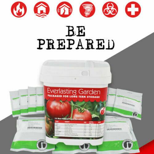 Everlasting Garden Emergency Survival Seed Pack, Non-Hybrid, Non-GMO, No Chems