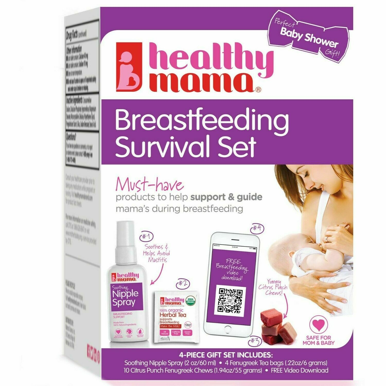NEW Healthy Mama Breastfeeding Survival Set, nursing nipple spray tea