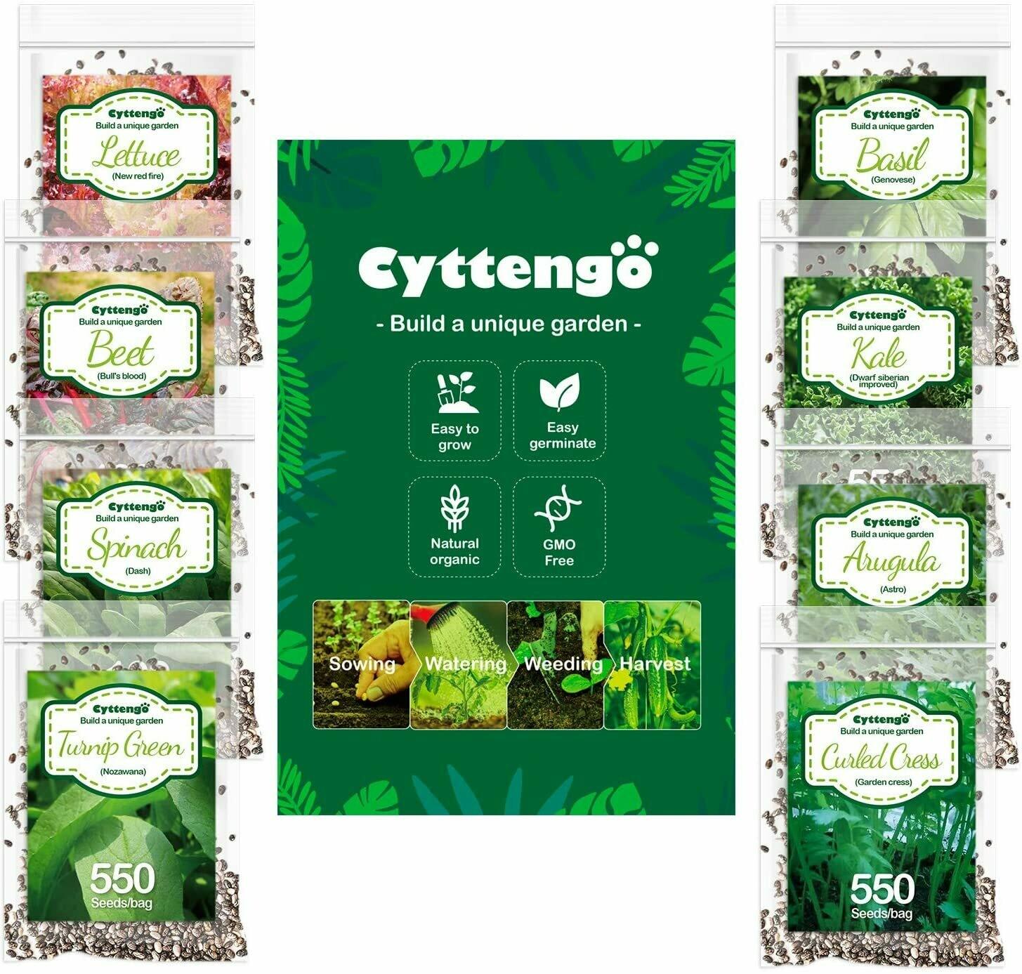 3500 Heirloom Seeds Vegetable Seeds, 8 Varieties Organic Seeds Heirloom Lettuce Seed, 100% Non-GMO Seeds for Planting