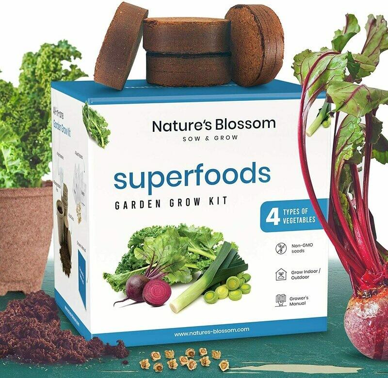Superfood Vegetables Garden Kit with Everything a Beginner Gardener  Indoor Outdoor