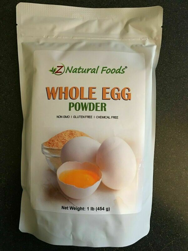 Natural Whole Egg Powder Camping Emergency Baking Home-Use Non-GMO 1lb pack