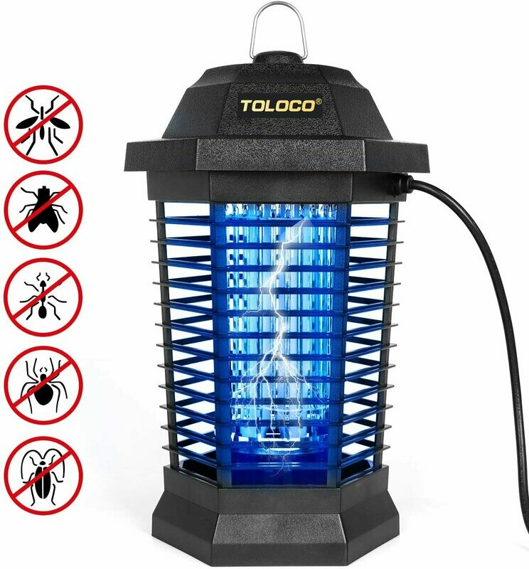 Bug Zapper Mosquito Killer, Fly Trap Outdoor Patio, Mosquito Attractant Trap for Outdoor and Indoor, Insect Zapper with Hook, Hangable