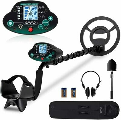 Metal Detector, High Accuracy Adjustable Waterproof Metal Detectors with LCD Display, Pinpoint & Discrimination & All Metal Mode 10 Inch Search Coil for Adults & Kids