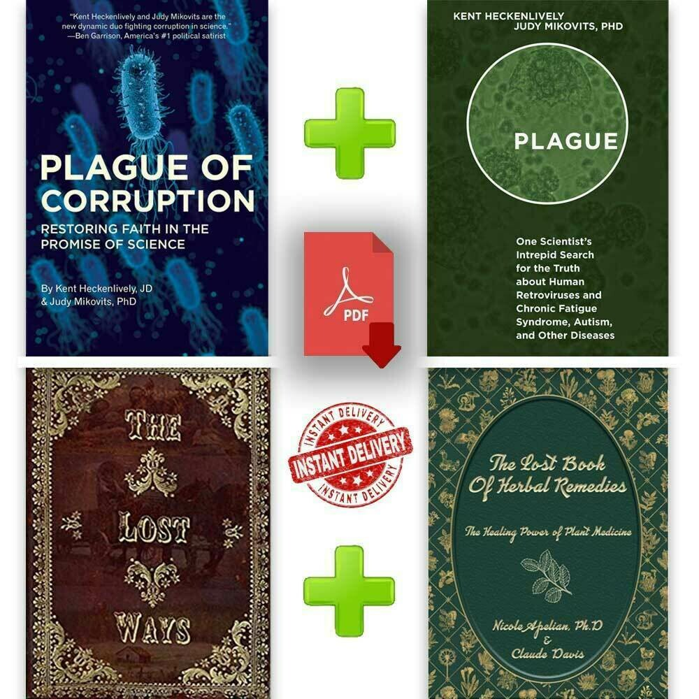 The Lost Book of Herbal Remedies & Plague of Corruption & 2 B00k P-D-F