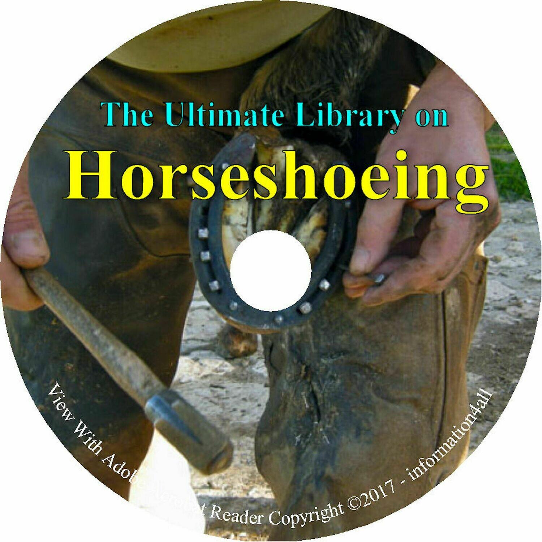 49 Books on CD, Ultimate Library on Horseshoeing, Blacksmithing Horseshoe