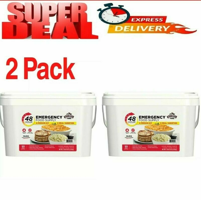 Emergency Food Supply 4 Person Kit 55 Serving Storage Quick Meal Survival 2Pack*