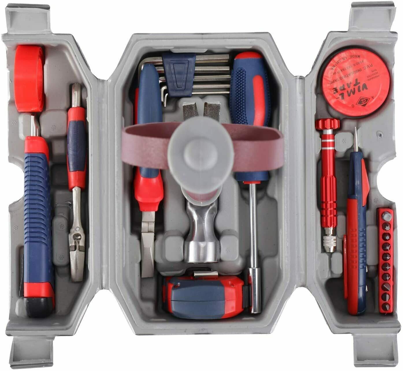 Avengers Marvel Legends Series Mjolnir Hammer Tool Kit, Daily Repair Filled Household Tool Case Pliers ect DIY Repair Kits Multi Tools Thor Hammer Accessories Set