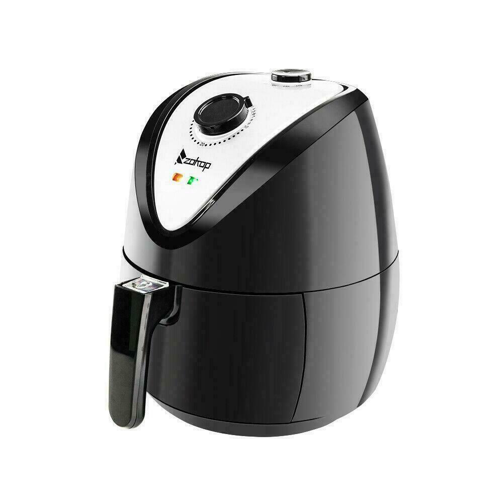 ZOKOP Electric Power Air Fryer Digital Timer Technology 1500W Oil-Less Black