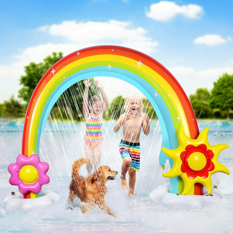 Inflatable Rainbow Sprinkler for Kids,