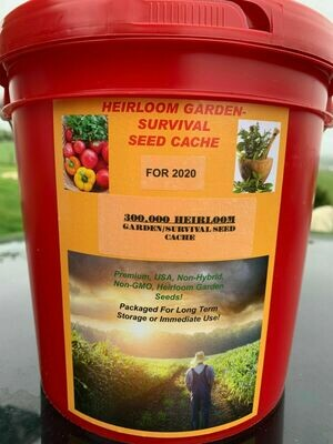 300,000 Survival-Garden Seed Package. Veggie, Fruit, & Herb Garden
