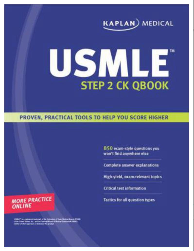 Kaplan Medical USMLE Step 2 CK Qbook Kaplan