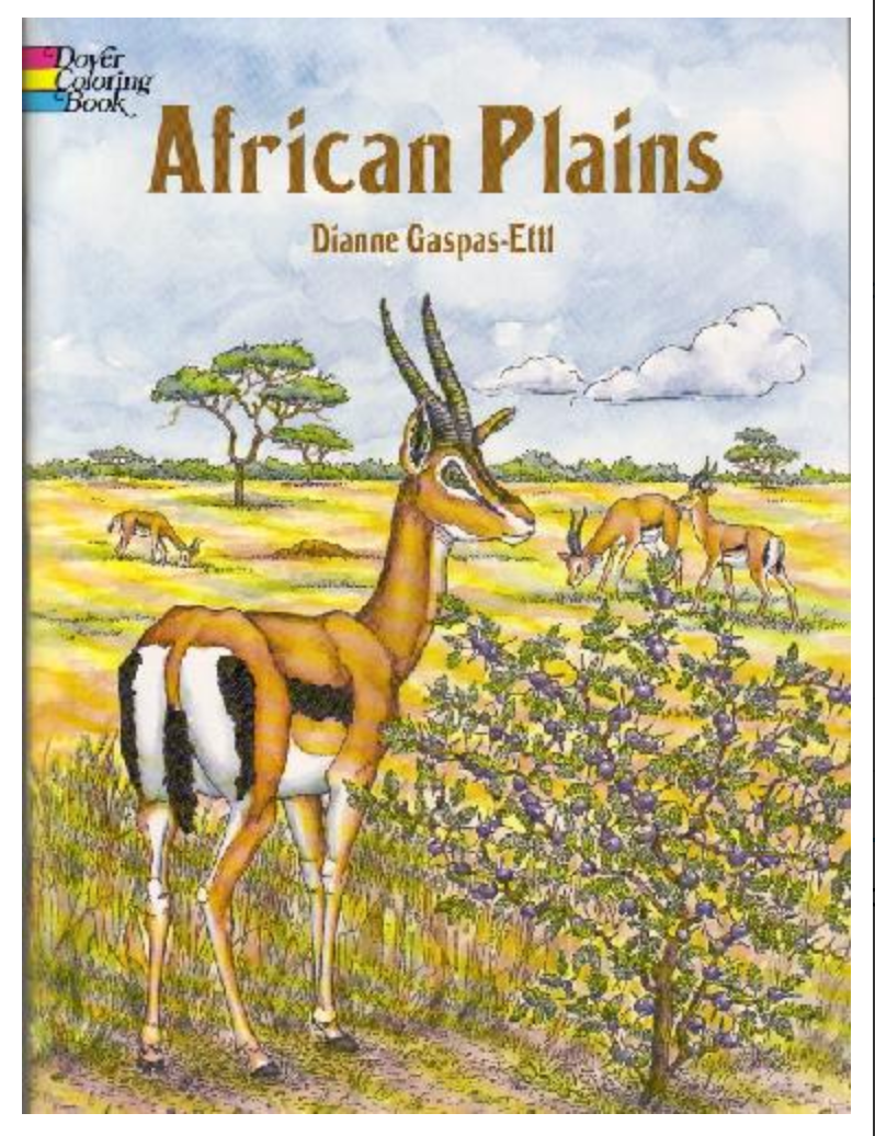 African Plains Coloring Book BY Gaspas-Ettl
