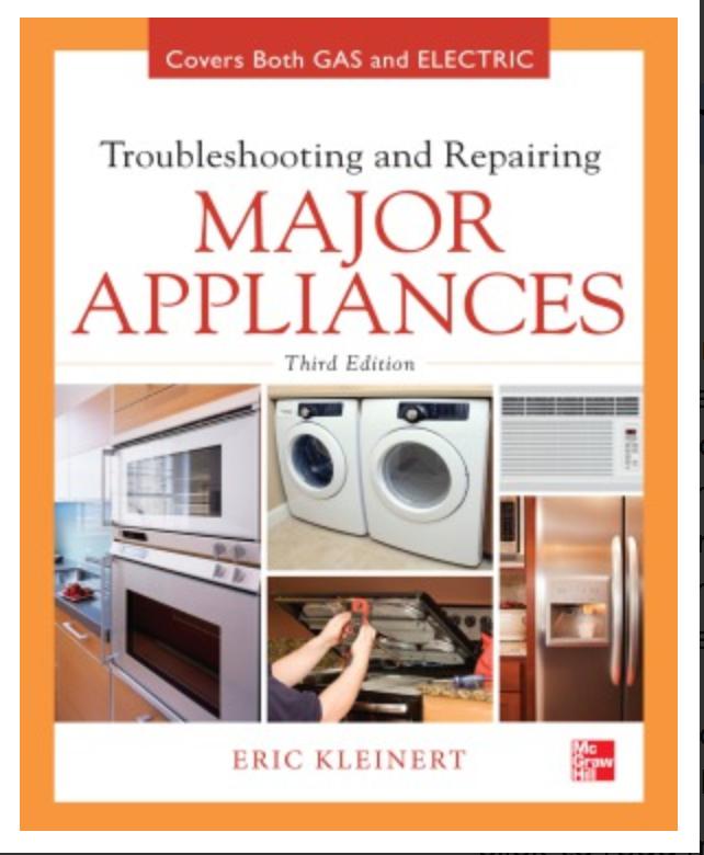 Troubleshooting and Repairing Major Appliances, 3 edition By Eric Kleinert ✅ËḂÕÕǨ✅ṖḊḞ📖