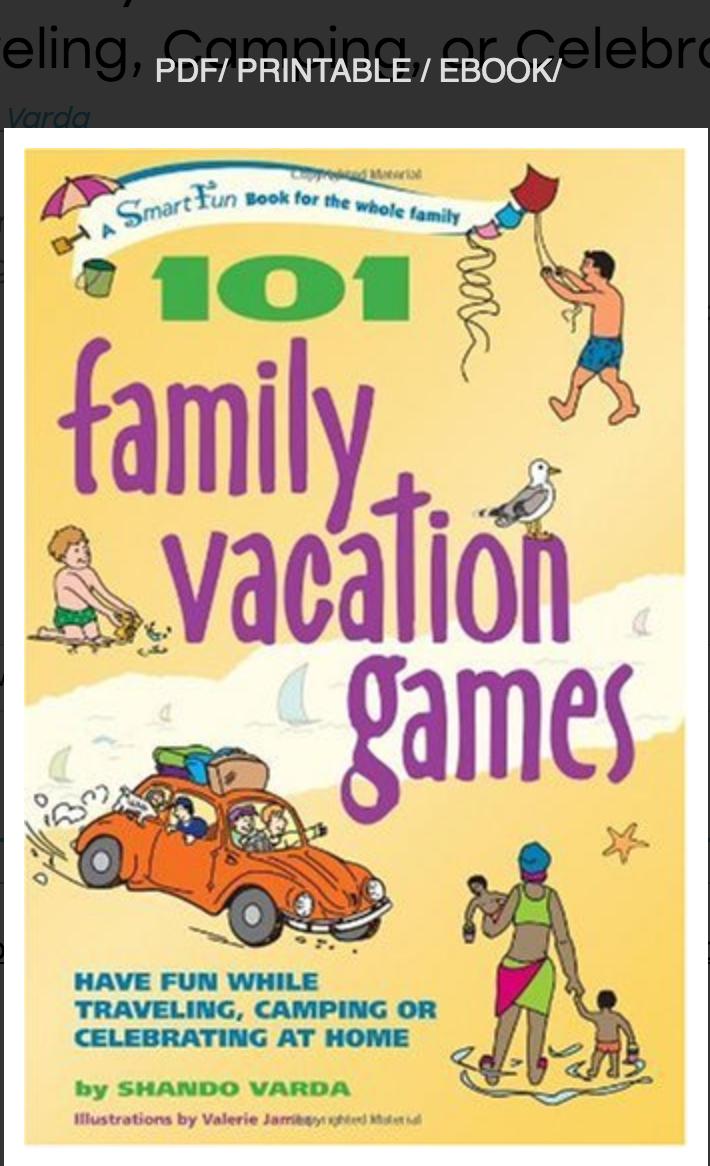 101 Family Vacation Games: Have Fun While Traveling, Camping, or Celebrating at Home Shando Varda
