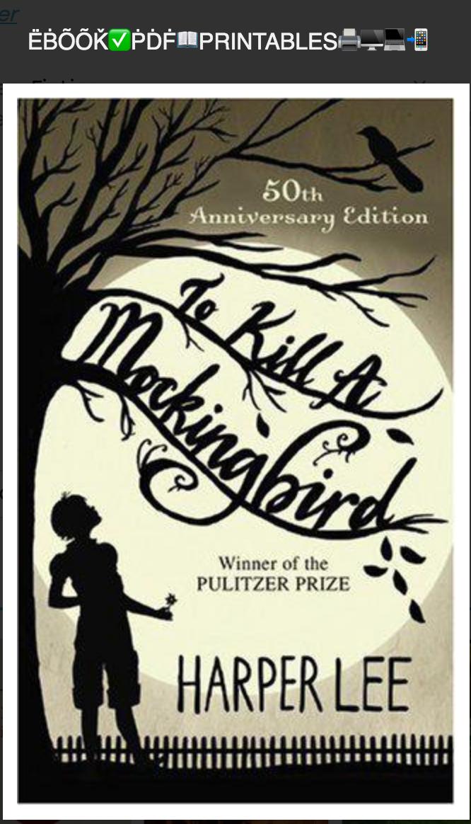 To Kill a Mockingbird By Lee Harper. (Ebook ) Epub.