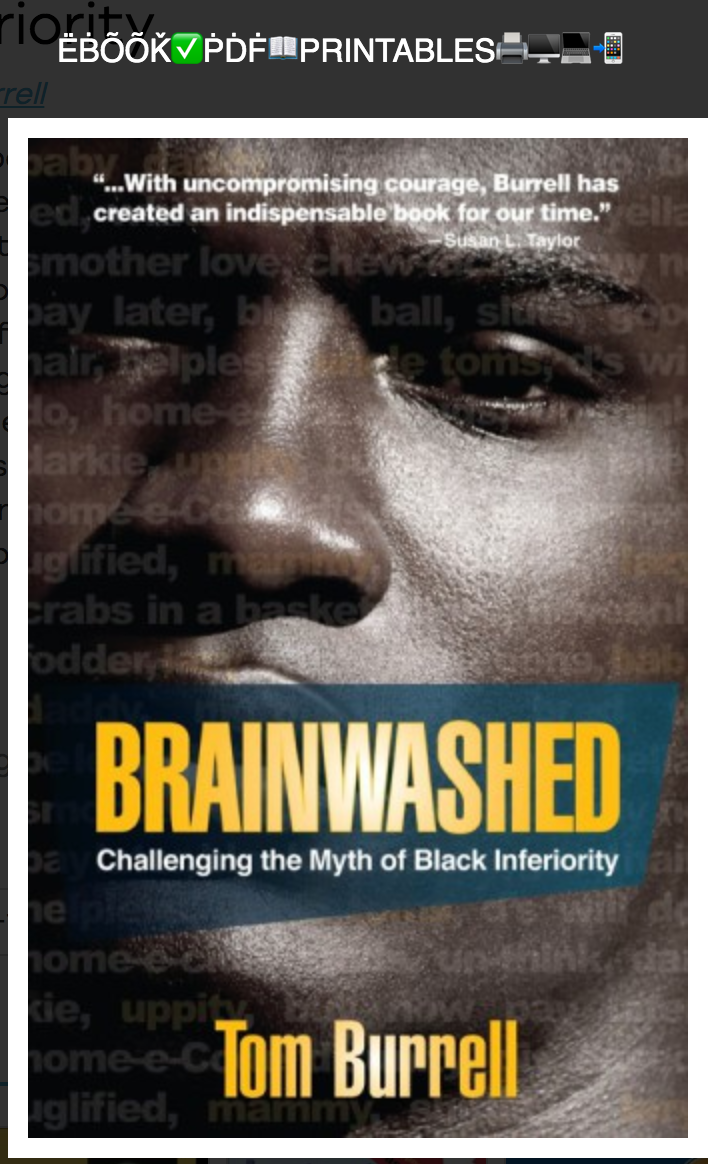 Brainwashed: Challenging the Myth of Black Inferiority By Tom Burrell ( eBook )