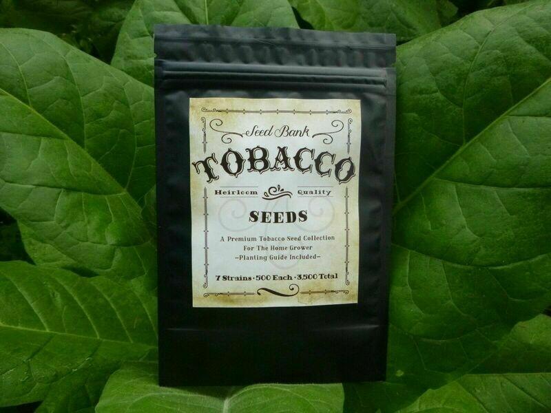 Survival Tobacco Seed Bank - 7 Top Varieties - Mylar Sealed - 7,000 Seeds