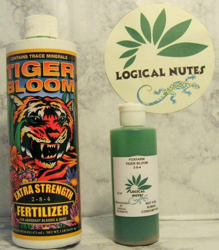 Fox Farm, Tiger bloom, plant fertilizer, hydroponics, soil 4oz bottle, nutrients