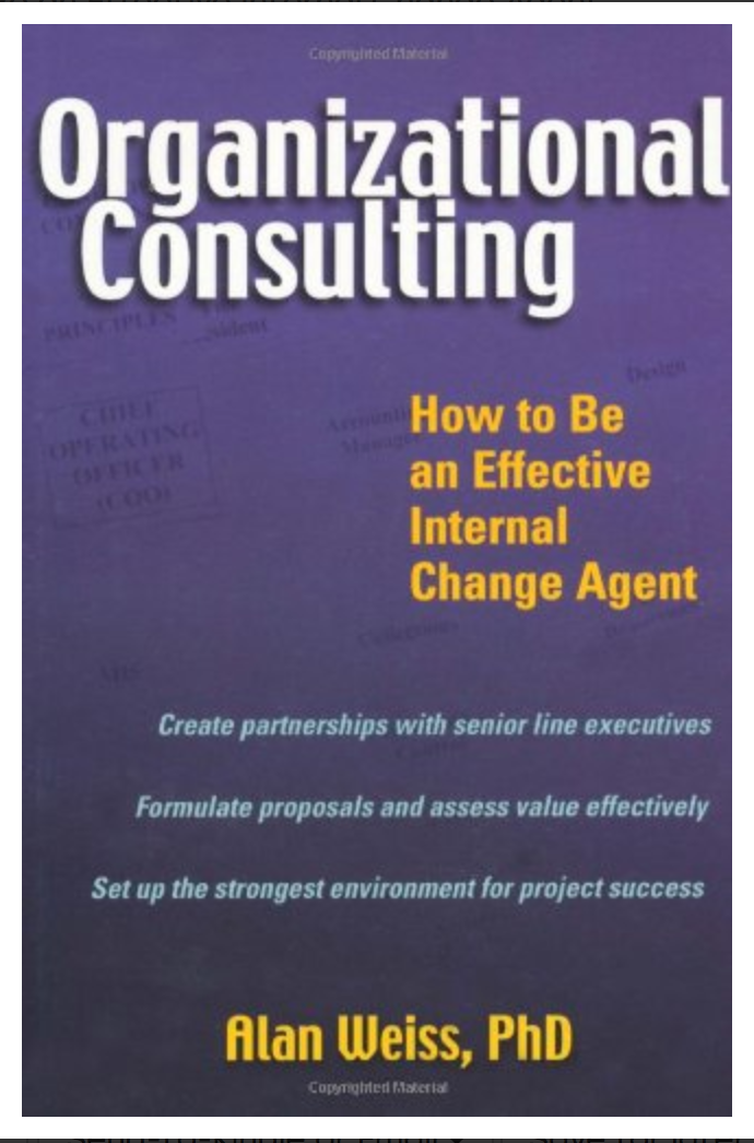 Organizational Consulting: How to Be an Effective Internal Change Agent [ Hardcover )