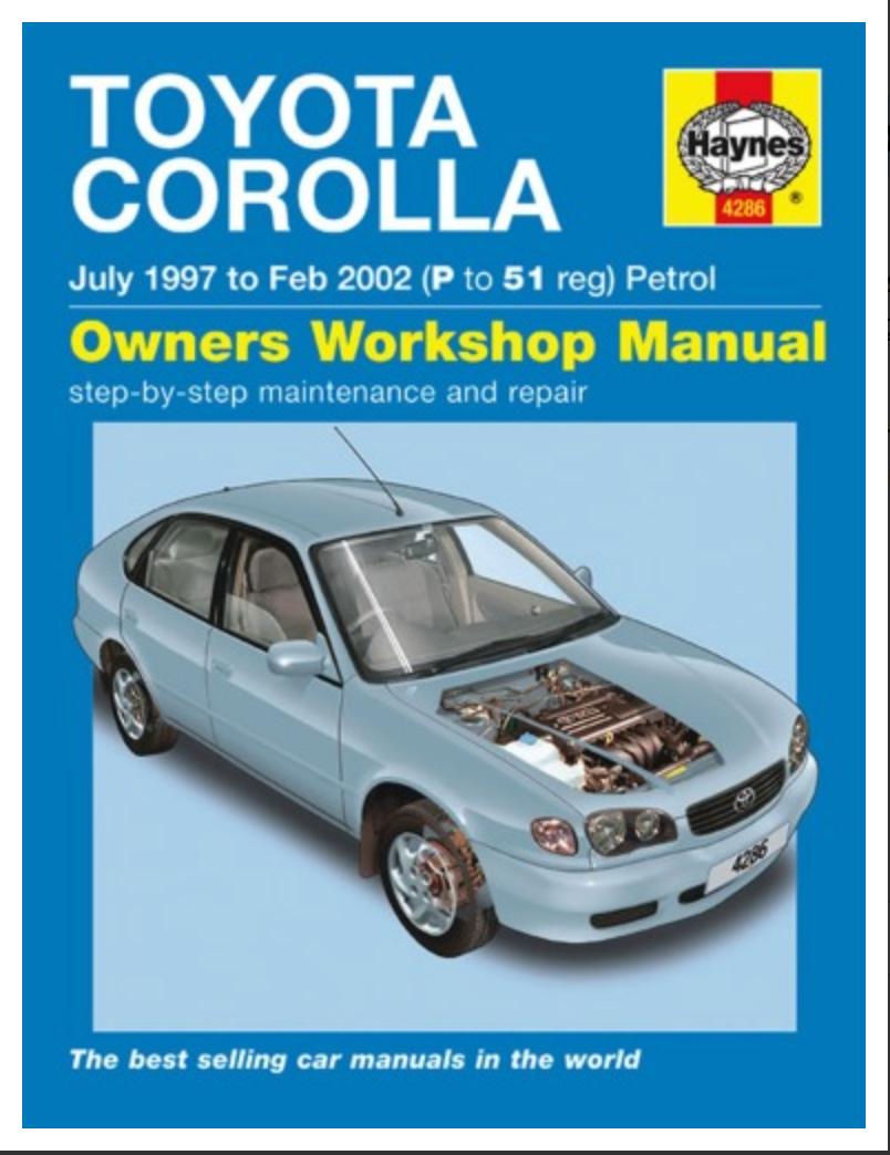 Toyota Corolla Owners Workshop Manual Martyn Randall [ EBook ] PDF