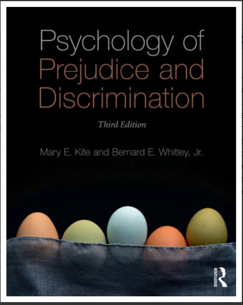 Psychology of Prejudice and Discrimination Mary E. Kite, Bernard E. Whitley Jr [ EBOOk] PDF
