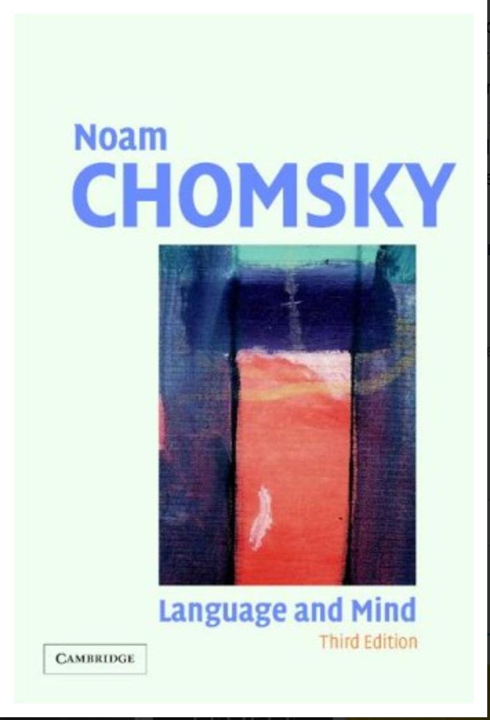 Language and Mind By Noam Chomsky [EBook] PDF