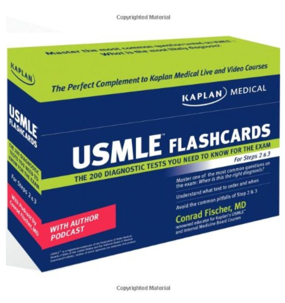 Kaplan Medical USMLE Diagnostic Test Flashcards ( Ebook )