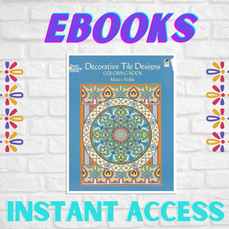 Decorative Tile Designs Coloring Book Marty Noble [ Ebook] Printable