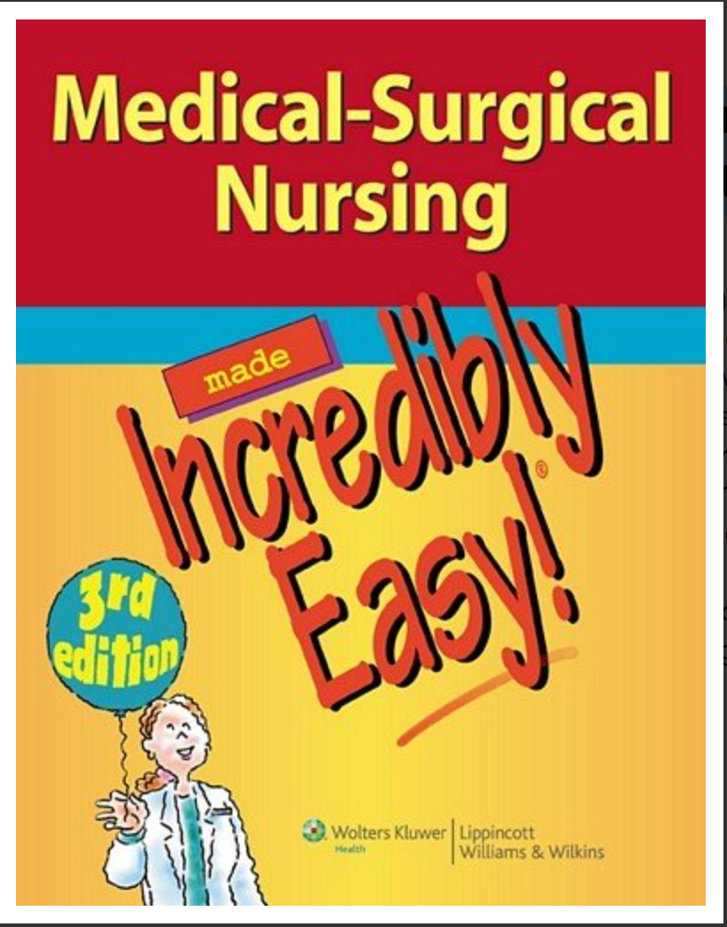 Medical-Surgical Nursing Made Incredibly Easy! [ EBook ] Available instantly