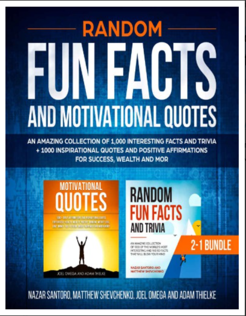 Random Fun Facts and Motivational Quotes 2-1 Bundle  [ Ebook ] Instant Availability