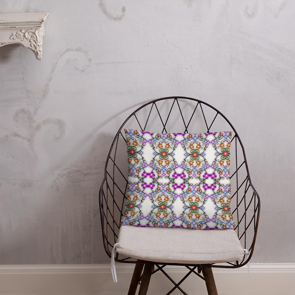 Tile abstract print Basic Pillow