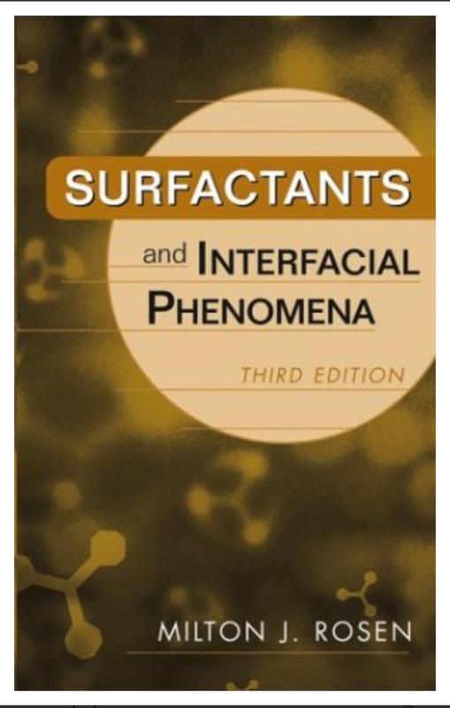 Surfactants and Interfacial Phenomena By Milton J. Rosen [Ebook] PDF