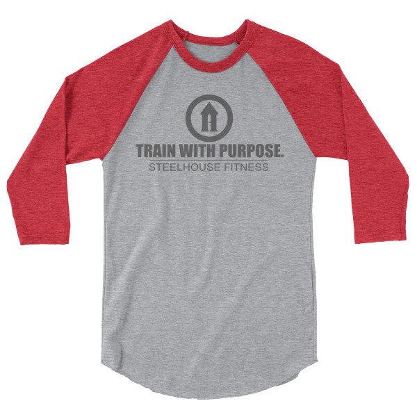 Baseball Raglan - Train with Purpose 2